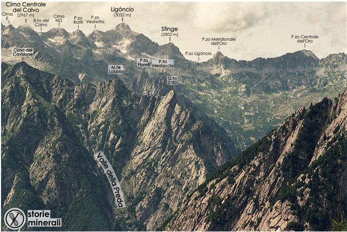 Valle dell'Oro - Cima del Calvo - Ligoncio - Pizzo dell'Oro - Val Masino