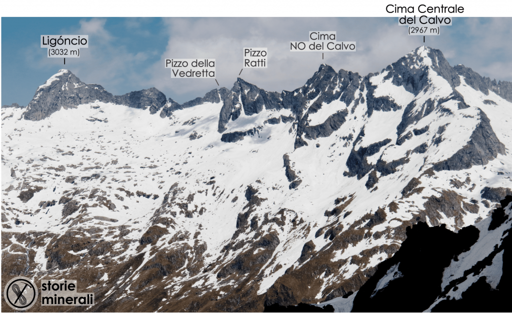 Valle dei Ratti - Ligoncio - Pizzo della Vedretta - Pizzo Ratti - Cima del Calvo - Costiera dei Cech
