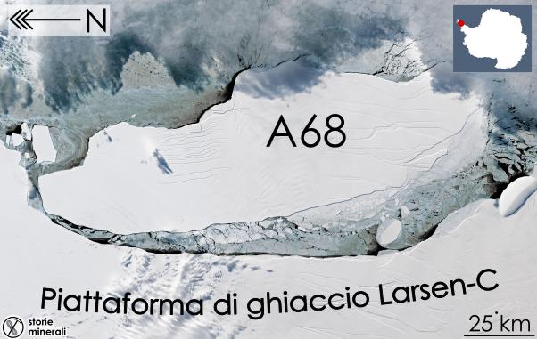 Iceberg A68 - Piattaforma di Ghiaccio Larsen C - Penisola Antartica