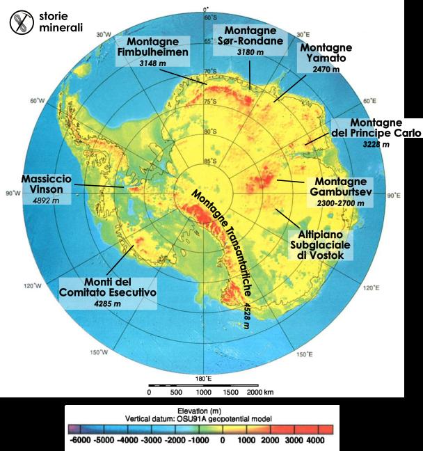 Antartide - Topografia - Montagne Antartiche - Monti Gamburtsev - Monti Antartide